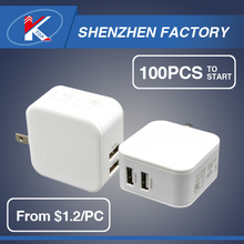 2017 5V 4.8A Bulk Low Price Shenzhen Cell Phone Tablet Smart Home Charger Wholesale Table Smartphone Mobile USB Charger in China