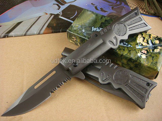 OEM wholesale survival pocket knife with stainless steel handle