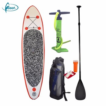 Fissot double wall constructed inflatable stand up paddleboard with paddle