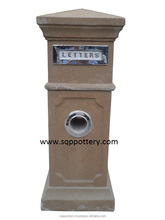 concrete letterbox mailbox for decoration