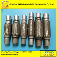 Exhaust Manifold and Catalyst Converter Connector stainless steel double layer Flexible Pipe/hose for universal car