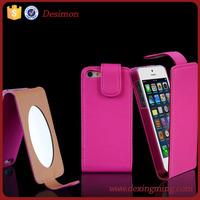 2017 lady vertical flip up cell/mobile phone case for iphone 6 g/plus with mirror cheap price cover