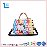 Zhaoxiang new custom pu leather ladies tote traveling bag