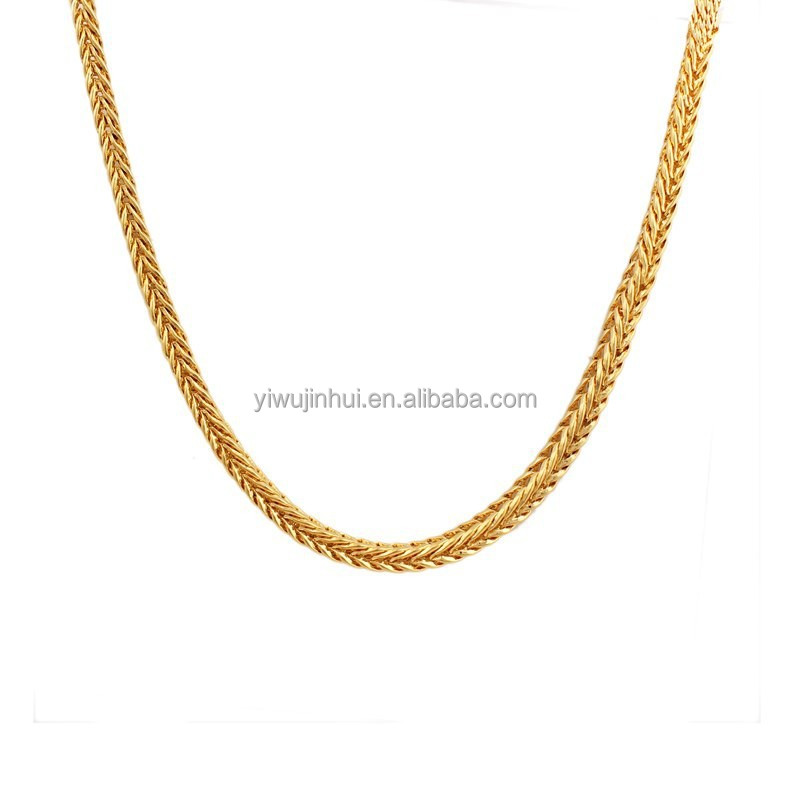 60cm*3mm Mens Designer Gold Tone Polished Snake Chain Necklace for men