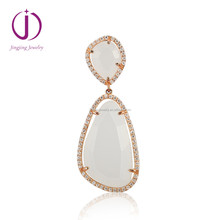 925 sterling silver Rose gold Quartz pendant for women silver jewelry set
