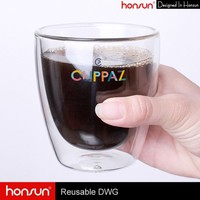 Dishwasher and microware safe heat resistant borosilicate handmade glass starbucks coffee mug