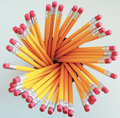 "7""HB with Eraser Colored barrel Standard Wooden pencil"