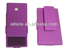 For LG Optimus L3 E400 Holster Combo Case With Kickstand