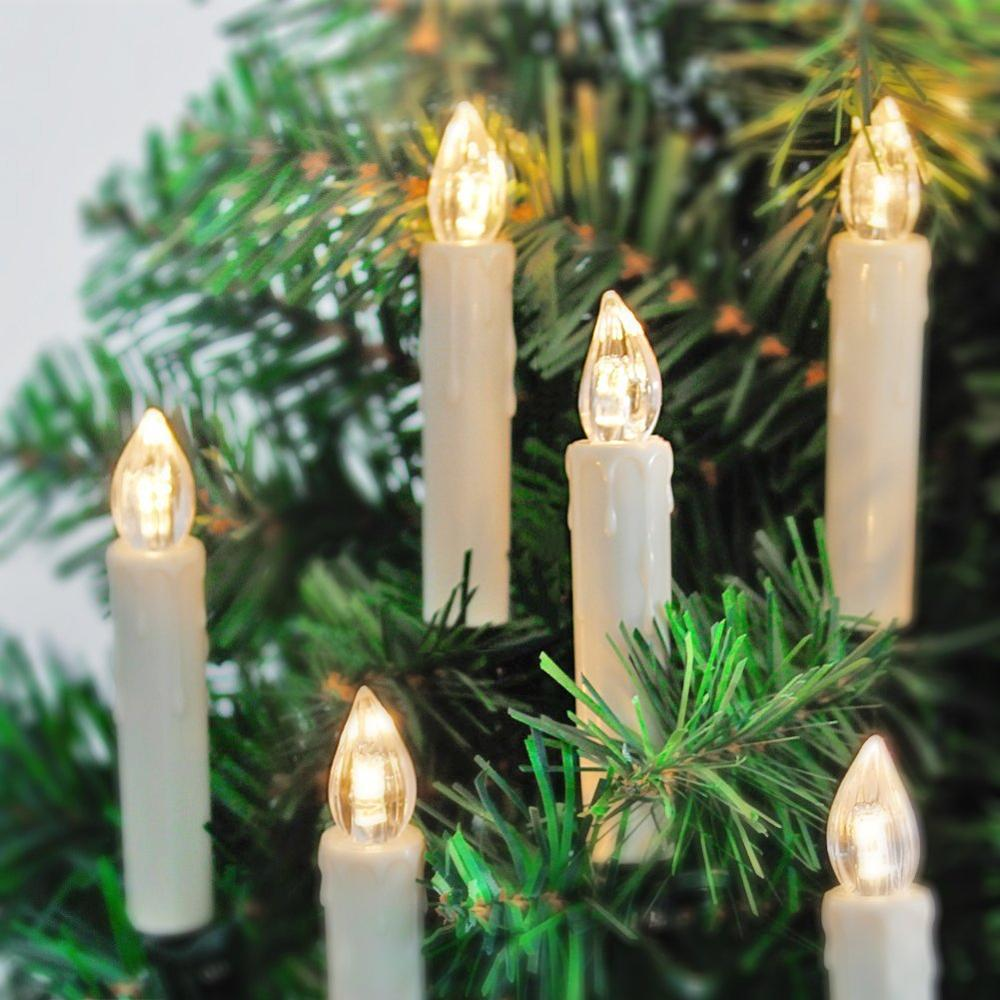 2017 New Christmas Led Aa/aaa Battery Operated Christmas Tree Candle ...