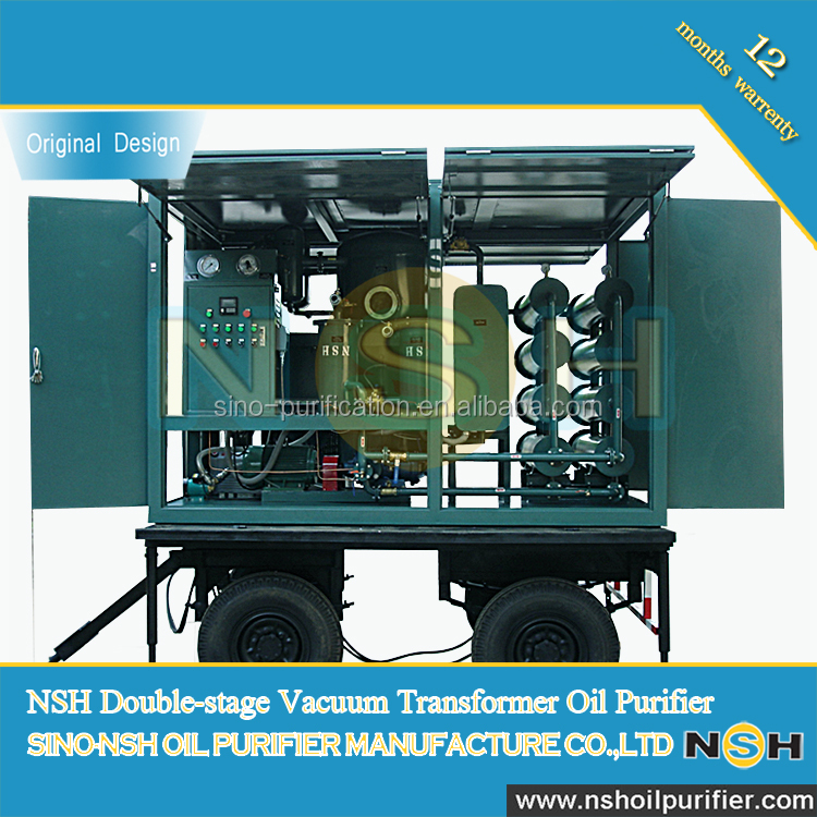 NSH VFD-R Series Double-stage Used Insulation Transformer Oil Purification Regeneration Machine