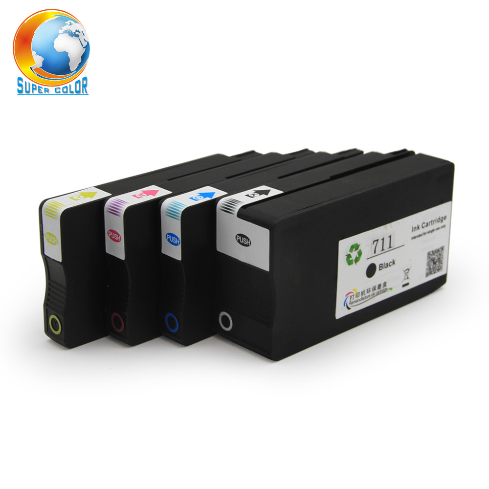 Wholesale office supply 711 Original compatible ink cartridge for hp Designjet T120 T520