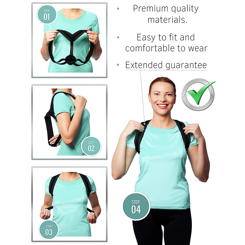 High Quality Back Posture Corrector Support Back Brace with Private Label