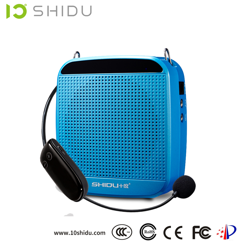 portable 18w powerful 2.4G wireless electronic siren amplifier with high quality headset microphone for tour guide