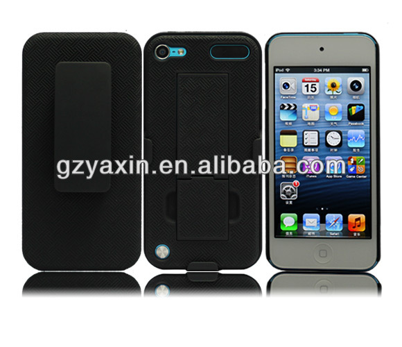 Professional wholesale kickstand case for ipod touch 5 cover,silicon case for apple ipod touch 5
