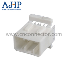 12 din male auto electrical connector for cars PA66 PBT GF30 White