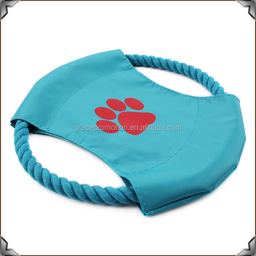 Free samples cotton rope dog frisbee toy for dog