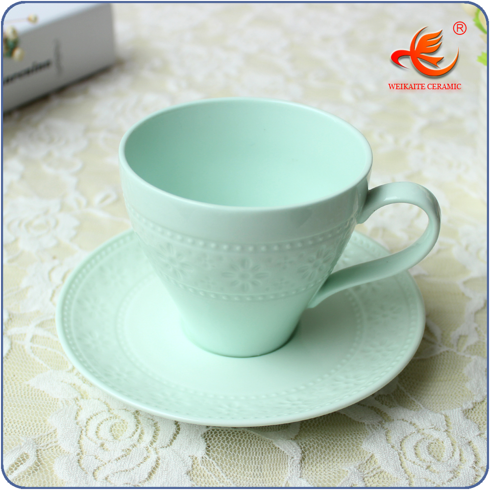 WKT007G buy wholesale china bulk tea cup and saucer sets
