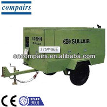 Sullair portable diesel engine screw air compressor