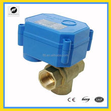 TF mini motorized ball valve CWX-15Q 3-way brass automatic Control