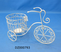 Wrought Iron Bicycle Pot Plant Holder for Garden Ornaments