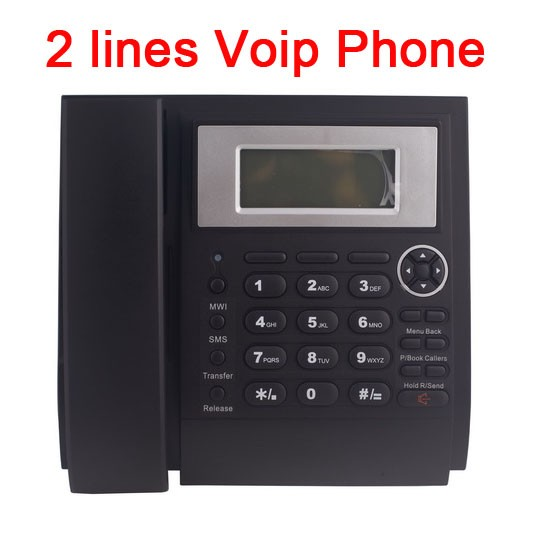 For office use LCD display Dual RJ45 port 2 SIP , 1 IAX protocol IP phone supporting wholesale