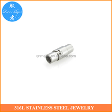 Jewelry findings wholesale 4mm round hole stainless steel magnetic clasp for bracelet MJMBK-239