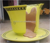 fancy fiberglass cup shaped chair decorative chair