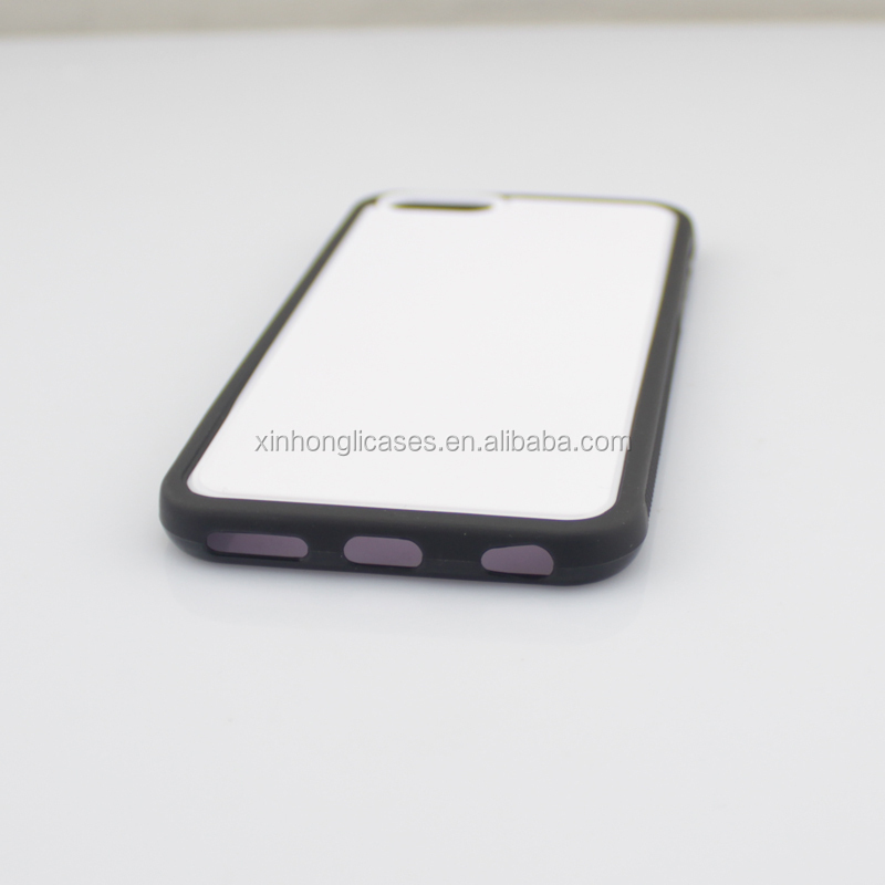 UV Printing Raw Case, TPU PC case for iPhone 6, White PC black TPU case