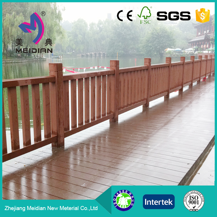 WPC safety wood deck railing
