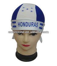 fashion hat Sport fans different country flag head tie scarf, promotional gife cap,newest hot sell head tie scarf
