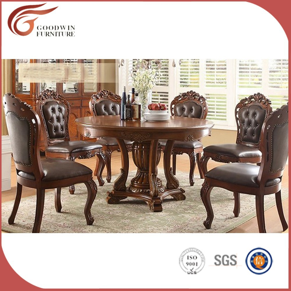Antique dining room furniture sets cheap royal dining room for Chaise salle a manger flamant
