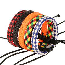 NB-184 Colorful Rope Custom Leather Bracelets