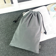 2016 Factory custom promotional advertising drawstring velvet pouch bag jewelry bag gift pouch