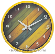 "9"" decorative oem flip plastic wall clock for kitchen"