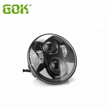 Shock price 45W Black High/Low Beam Motorcycle LED Headlight 5.75inch DRL Round H4 Projector Head Lamp for Jeep Harley Davidson