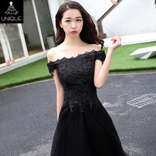 Super March Discount Black Off shoulder sexy bandage dress , latest china bridesmaid dress