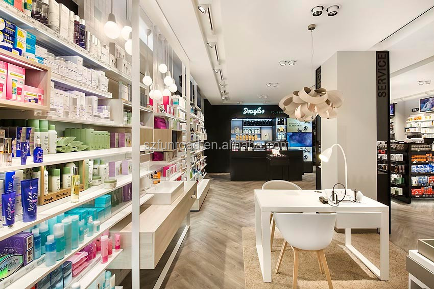 Bespoke perfume retail store interior design showcase Commercial furniture