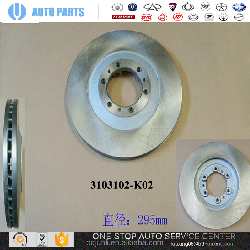 FRONT BRAKE DISC 3103102-K02 GREAT WALL HOVER H5 DIESEL ORIGINAL AUTO PARTS HIGH QUALITY wholesale