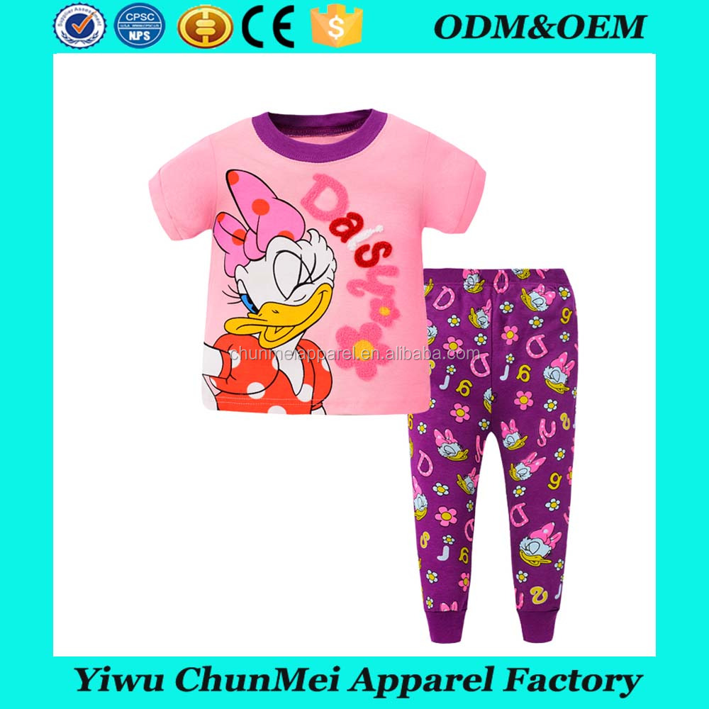 baby Pajama Sets 100% soft Cotton baby Sleepwear Fashion 3D Kids Pyjamas