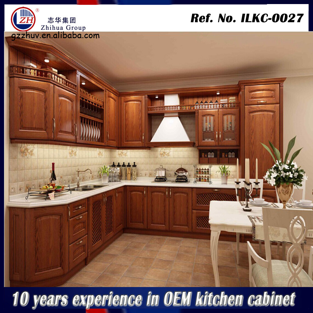 Solid wood kitchen cabinet modular kitchen designs for for Small modular kitchen