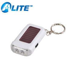 2 LED Recharging Solar Light Keychain with Solar Panel