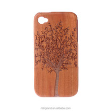 Exuberant Tree Mobile Phone Cover for iPhone 6 6plus Real Wood Back Case