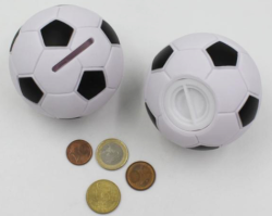 custom personalized diy saving money box,plastic small football coin bank/cheap wholesale piggy bank