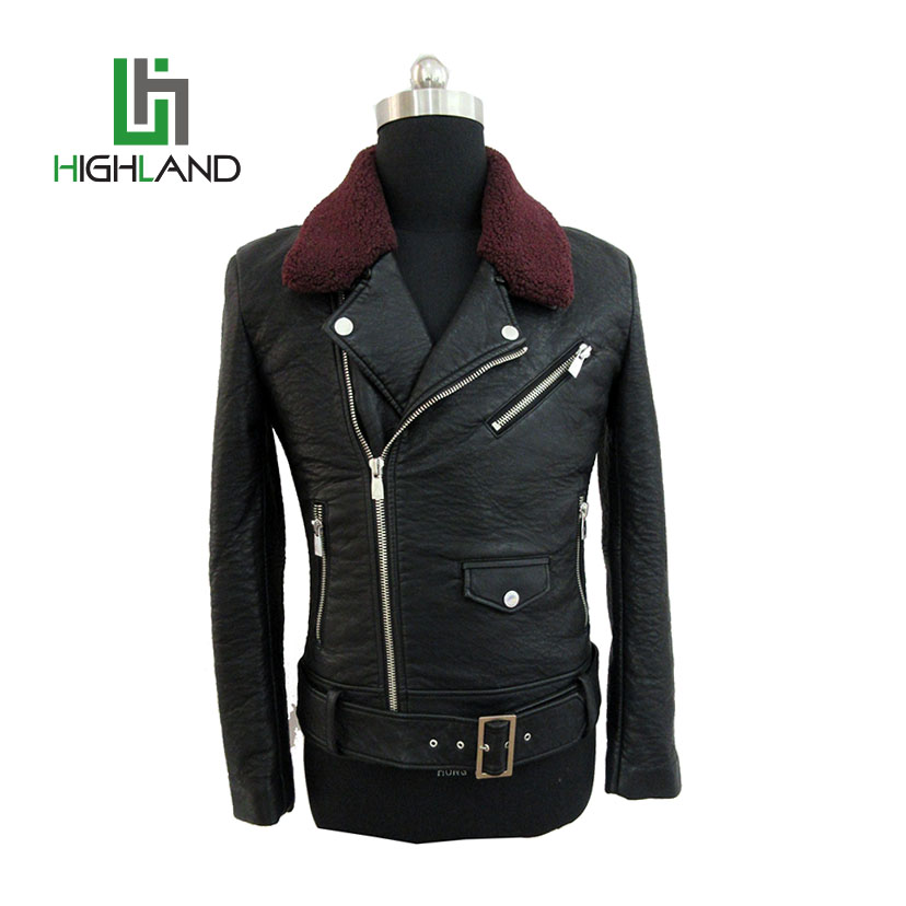 Wholesale pu leather jacket mens leather jacket leather bomber jacket