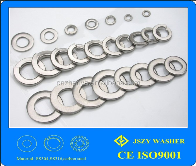 China wholesale aliexpress stainless steel flat/spring/tooth DIIN7349 stainless steel washer