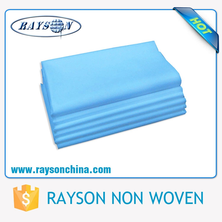 Waterproof Disposable Nonwoven Bed Sheet/Cover (PP+PE) for Hospital