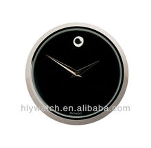 Round shape mini clock inserts black dial silver bezel,classic design simple and concise deorative insert clocks hot wholesale