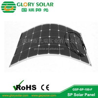 Custom Design Flexible Sunpower Monocrystalline Solar Panels for RV