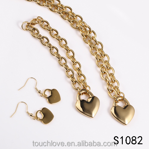 S1082 Heart Shaped Stainless Steel Jewelry,Bisuteria, Fashion Jewelry For Girls