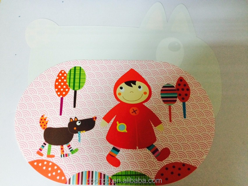 printed cartoon pp table placemat for kids and child